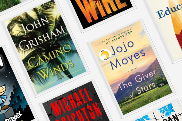 Book covers of most popular books of 2020