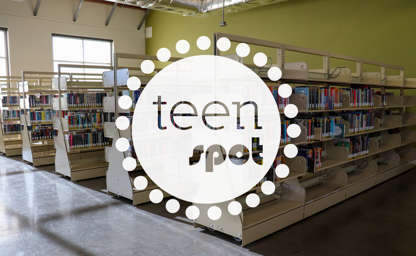 teen spot books with logo