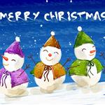 christmas, snow men,