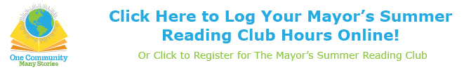 register for summer reading club, log hours,
