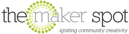the maker spot, logo, makerspace,