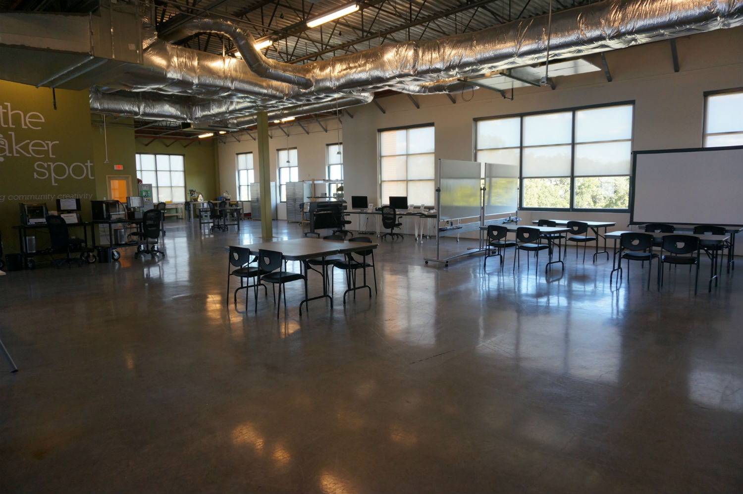 the maker spot, north richland hills, library, makerspace, after, construction
