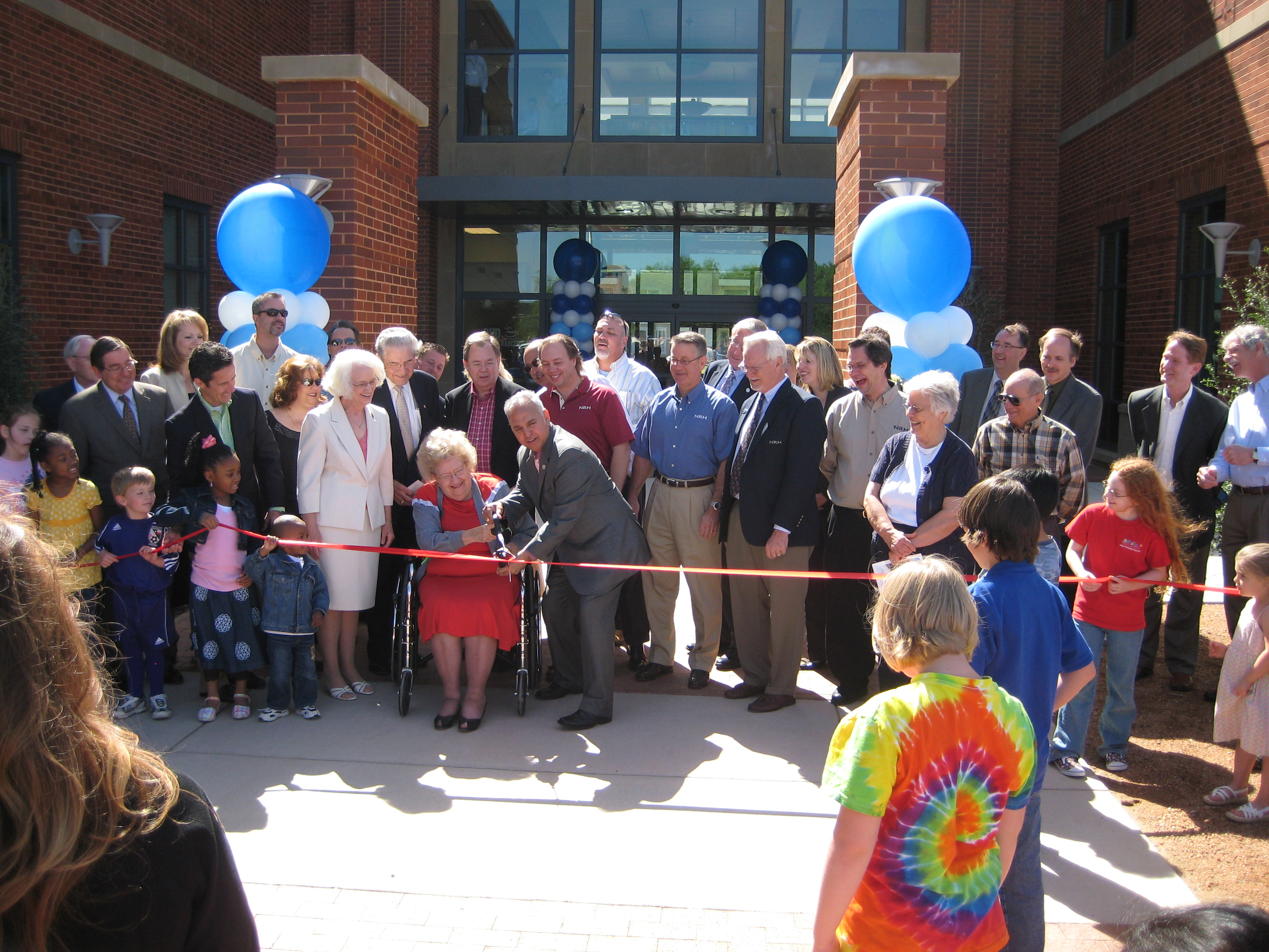 ribbon cutting, library, north richland hills, texas, 2008