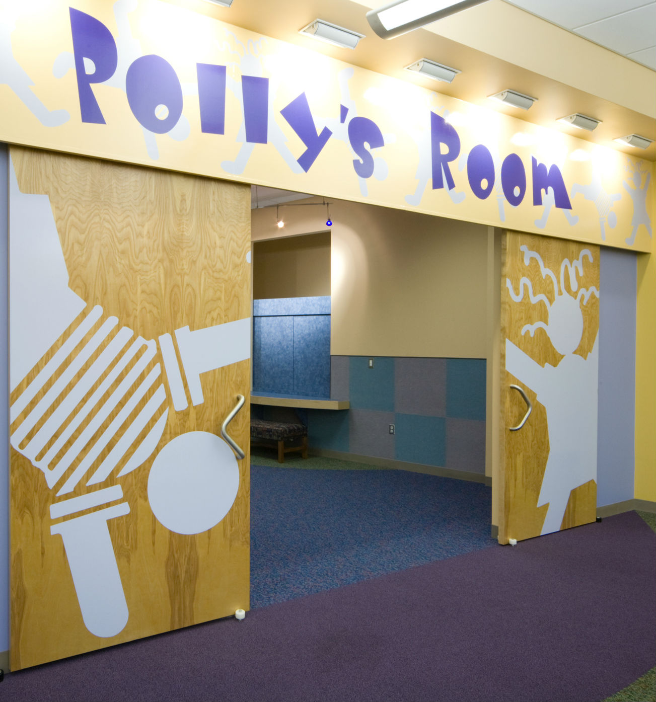 polly brinkley, story time room, library, north richland hills, texas,