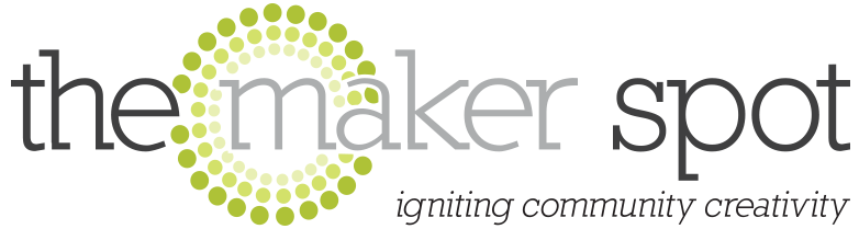 the maker spot, logo, nrh library,
